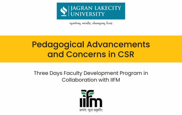 Three Days Faculty Development Program in Collaboration with IIFM from 10th to 12th December 2020
