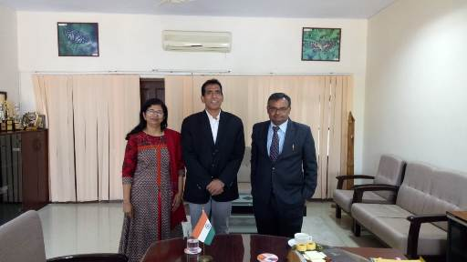 Mr Suresh Reddy, Lead CSR and Director, SRF Foundation visits IIFM on 1st March 2019